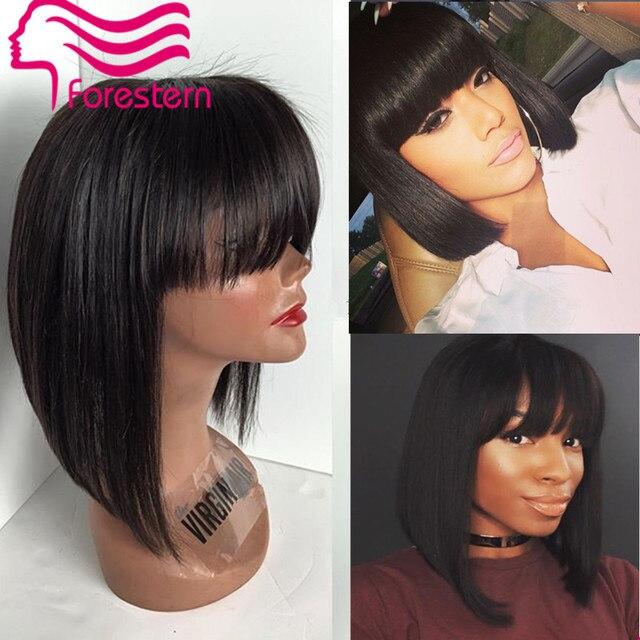 Brazilian Human Hair Bob Wigs For Black Women Short Hair Lace Front