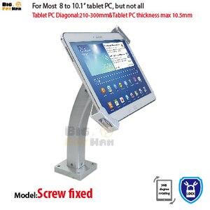 Uniwersalny uchwyt ścienny tablet pc uchwyt antykradzieżowy wyświetlacz bezpieczeństwa stojak na tablet dla 7-10 cali ipad samsung ASUS Acer Huawe