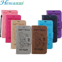 Bear Relief Leather Case For Huawei P8 Lite 2017 Case Flip 5.2