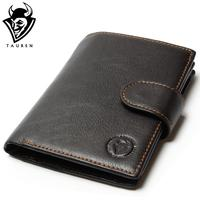 New Special Retro Practical Oil Waxing Leather Wallet Cowhide Genuine Leather Wallet Thickening Vintage Men Wallet