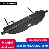 Acessórios para mazda 5 carro tronco traseiro segurança escudo de carga capa 2011 12 13 14 15 16 17 18 versão estilo do carro guarnição