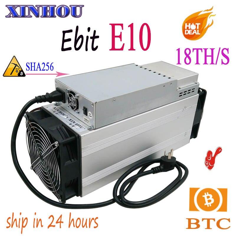 Utilisé BTC BCH Mineur L'ebit E10 18 T SHA256 Asic Avec PSU bitcoin minier Mieux que antminer s9 S11 T15 S15 B7 Z11 M3 M10 T1 T2T T3
