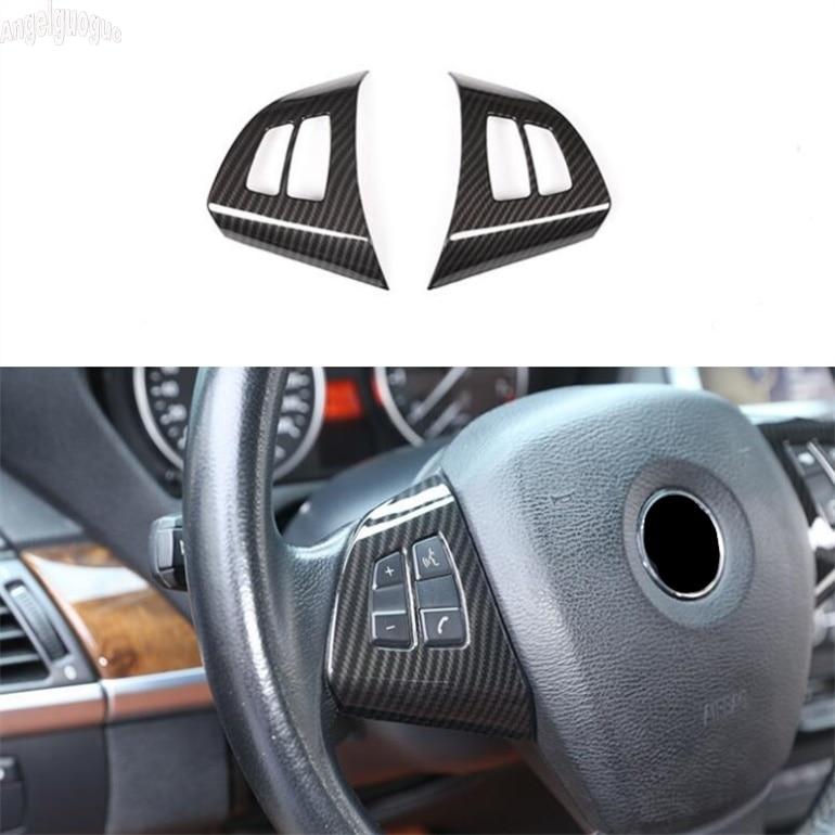For BMW X5 E70 2010-13 Black Carbon Fiber Style h Gear Shift Panel Cover Trim 1x