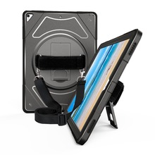 Case for iPad Pro 12.9 inch 2017 2015 Tablet Cover with 360 Degree Rotating Hand Strap Neck & Kickstand Protection MTL02