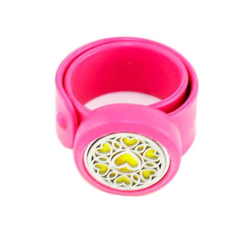 8 สี Love hart 30 มม. น้ำมันหอมระเหยน้ำหอมกล่องซิลิโคนสร้อยข้อมือ Match ผู้หญิงแฟชั่น Charm สร้อยข้อมือเครื่องประดับ BG26