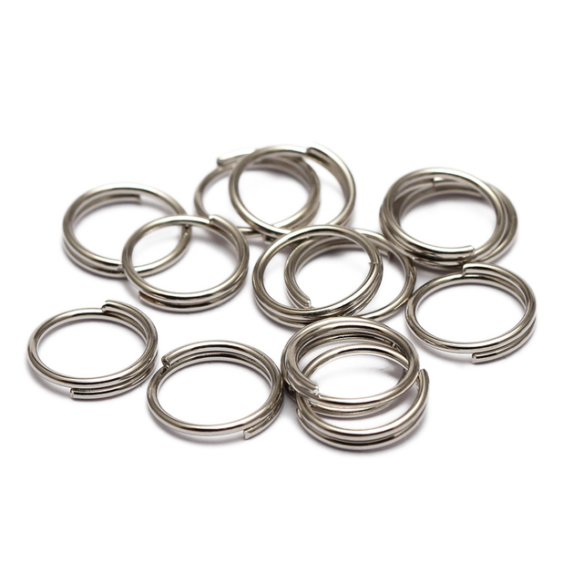200pcs/lot 5 6 7 8 10 12 14 mm Open Jump Rings Double Loops Gold Color Split Rings Connectors For Jewelry Making 1