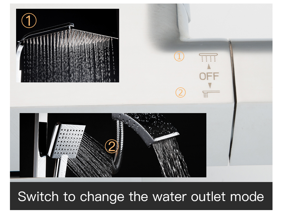 HTB1ucpmaF67gK0jSZPfq6yhhFXaP GAPPO thermostatic shower set rain shower set shower faucet hot and cold Shower faucet Bathtub thermostatic shower mixer