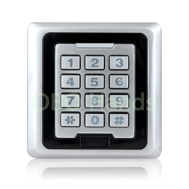 RFID Waterproof Door Access Controller With Metal Keypad Lock With WG26/WG34 Interface Electric Digital Lock With LED Light-K86 rfid waterproof metal control locks with wg26 wg34 input output digital door locks for door access control system 10 keys k82