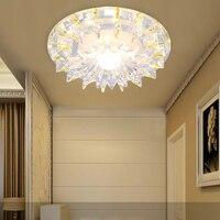 LAIMAIK AC90 260V Crystal Ceiling Light 27W Bedroom Foyer Ceiling Light Round Led Home Decoration Lamps
