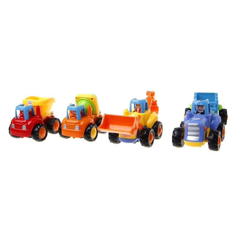4pcs/set Classic Building Blocks Toy Car City Construction Mini Education Kid