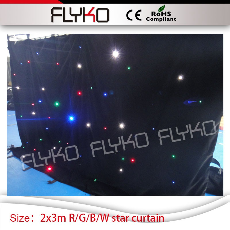 KTV Stage Led Backdrop Concert Decor R/G/B/W Ceiling Curtain Starlight 7ft By 10ft Flexible Soft Led Curtain