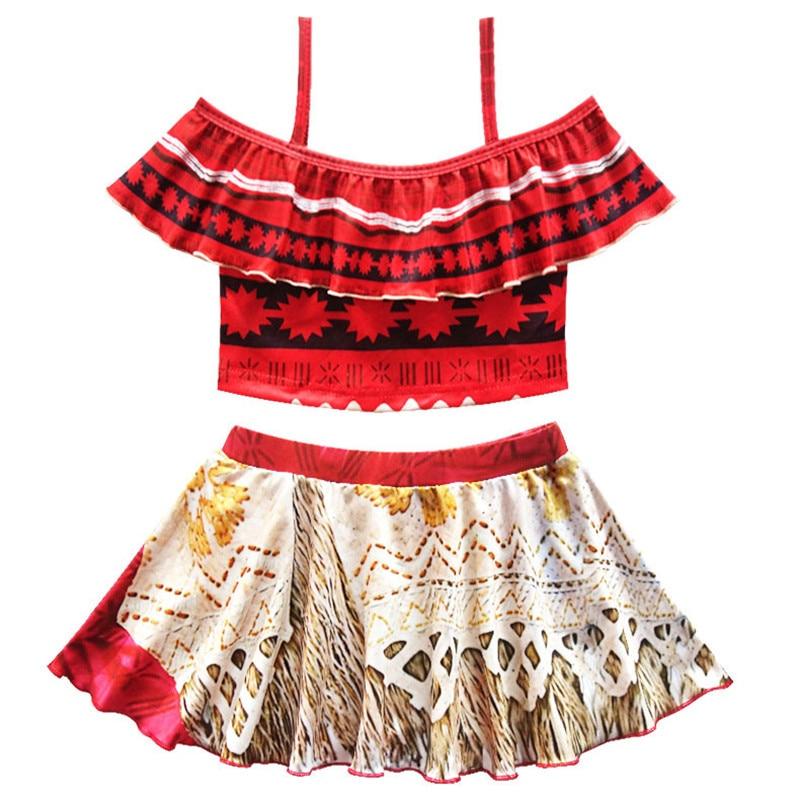 Robe d'été Fille Moana Filles robes vaiana bébé Fille Bikini d'une seule pièce De Bain Arc porter Enfants de Bain trolls princes robe maillot de bain