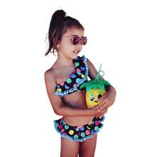 2 Piece Toddler Baby Dot Bikini Set Swimwear Girls Kids Summer Swimsuit Bathing Suit Beach Clothes MAR14