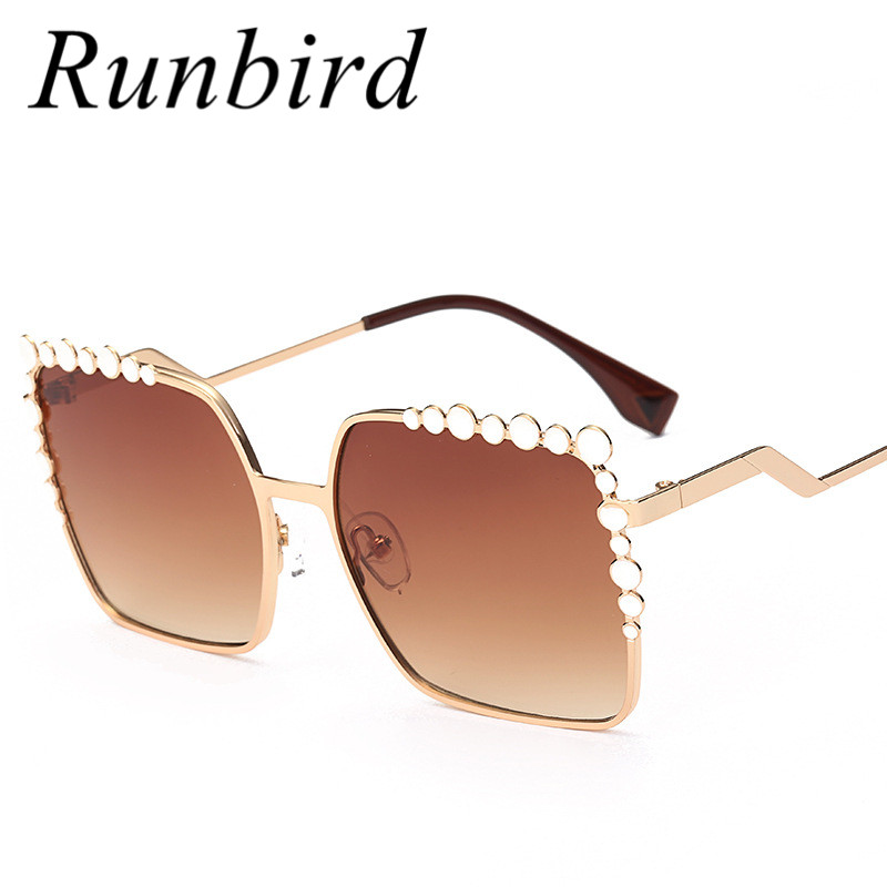 Runbird 2017 New Square Women Sunglasses Oversized Luxury Designer Sunglasses Big Frame Sun Glasses Lunette De Soleil Femme 369R
