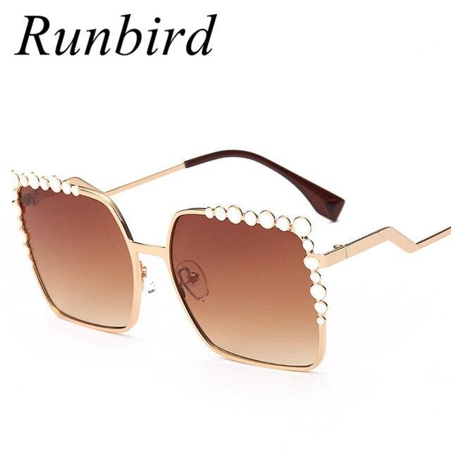 Runbird 2017 Nouveau Carré Femmes Lunettes De Soleil Surdimensionné  Concepteur De Luxe Lunettes De Soleil Grand 8f699cb8d593