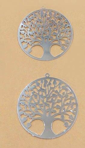 """Многоцветные латунные пустые винтажное резное кольцо цветок Подвески """"Дерево жизни"""" звенья Обертывания Разъемы для самодельных ювелирных изделий 30 мм - Цвет: silver tone plated"""