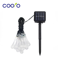 20 LED Water Drop Solar Powered String Lights LED Fairy Light For Christmas Wedding Party Festival