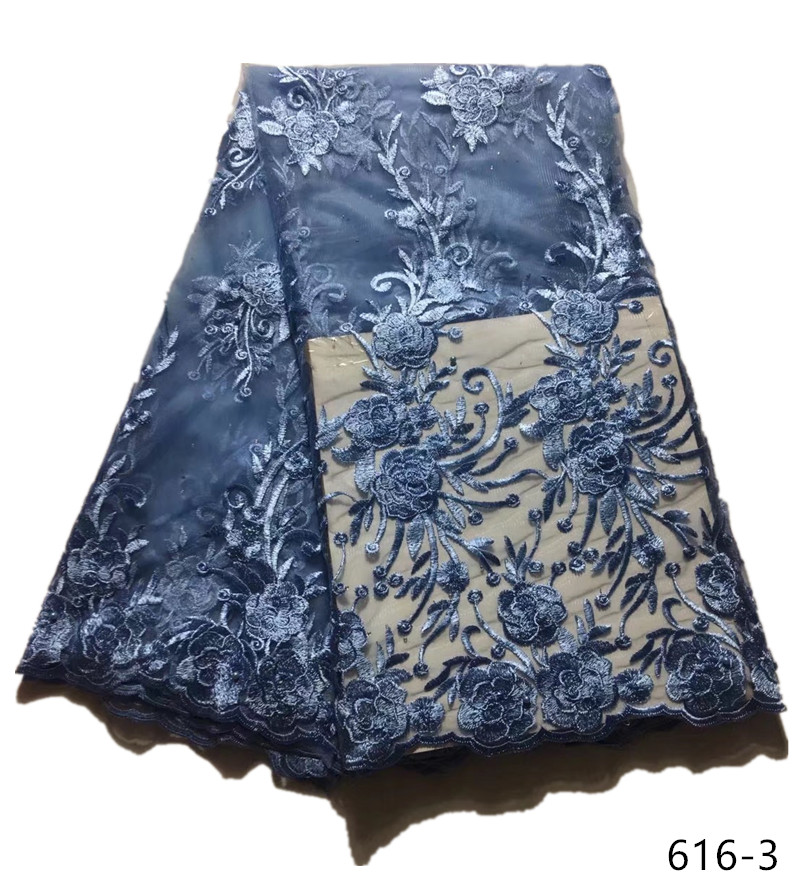 French lace fabric 5yds pce royal blue sequins laces for women gorgeous bright dress 2019 high quality new arrival asoebi 616 in Lace from Home Garden