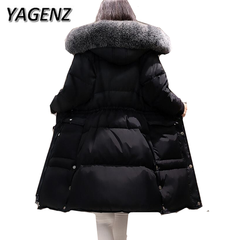 High-grade Winter Fox fur Women Jacket Warm Hooded Coats 2018 Korean Slim Down Thick Long Overcoat Parkas Casual Female Jacket high grade big fur collar down cotton winter jacket women hooded coats slim mrs parkas thick long overcoat 2017 casual jackets