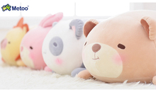 Metoo Cute Original Kids Plush Stuffed Toys Soft Multifunction Animal Bear Panda Rabbit Lion Pillow Cushion Doll for Kids Gifts