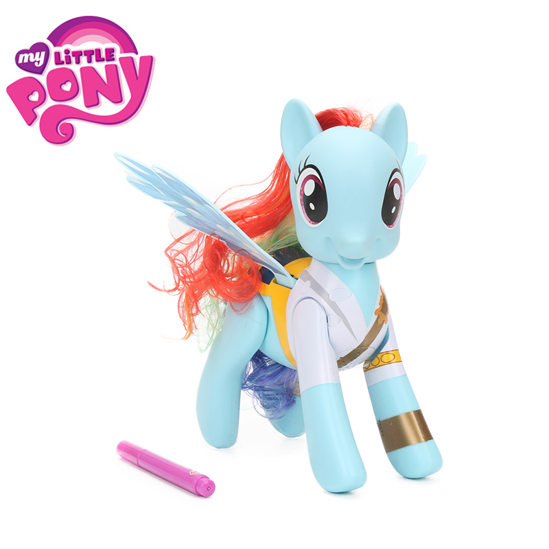 Electronic My Little Pony Toys Flip Whirl Priate Rainbow Dash PVC Action Figure Friendship is Magic