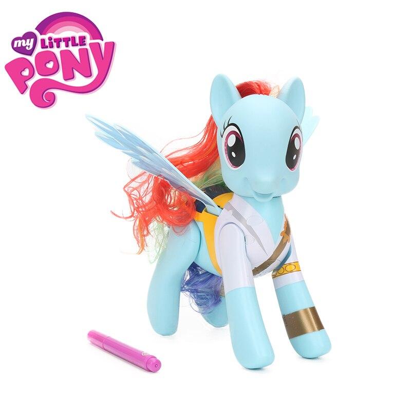 Jouets électroniques mon petit poney Flip et tourbillon Priate arc-en-ciel Dash PVC figurine d'action amitié est jouet magique poupées modèle Colletible