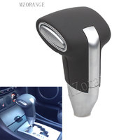 MZORANGE 1 PCS Gear Shift Knob New Automatic Transmission Leather+Chrome For Toyota Camry for Rav4 for Corolla Ex Gear Head CAR