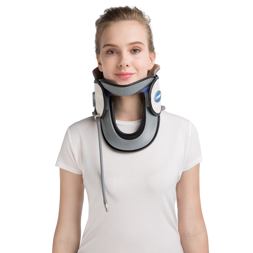 LEAMAI Inflatable Medical Neck Cervical Traction Device Relief Neck Upper Back Pain Portable Home Use Cervical