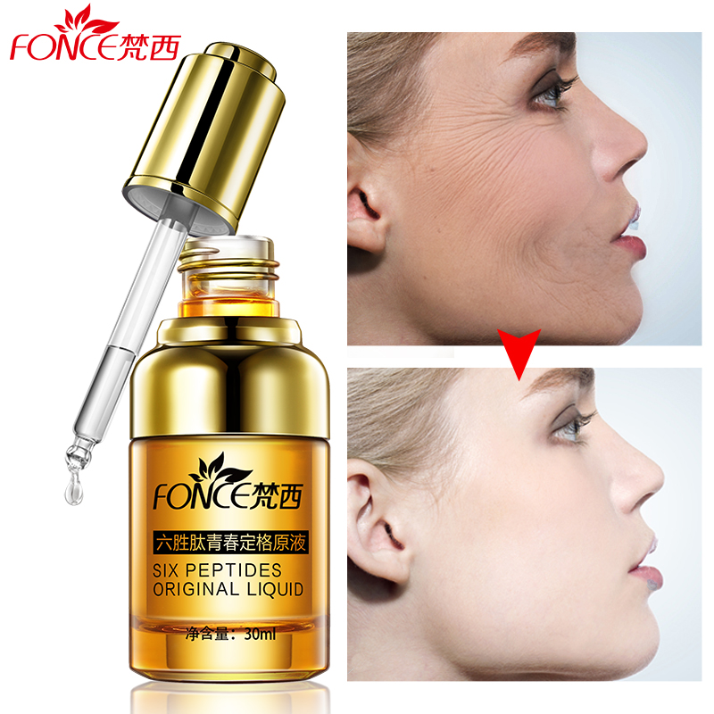 Fonce Argireline Anti Wrinkle Facial Serum Hyaluronic acid Liquid Six Peptides Anti Aging Collagen Face Lifting firming Ageless