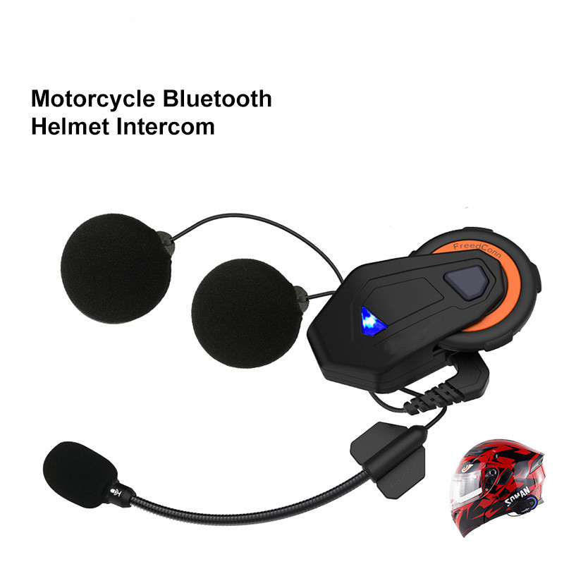 Casque Moto Intercoms Bluetooth interphone casque pour 6 coureurs FM Moto Headse Moto interphone conduite casque casque