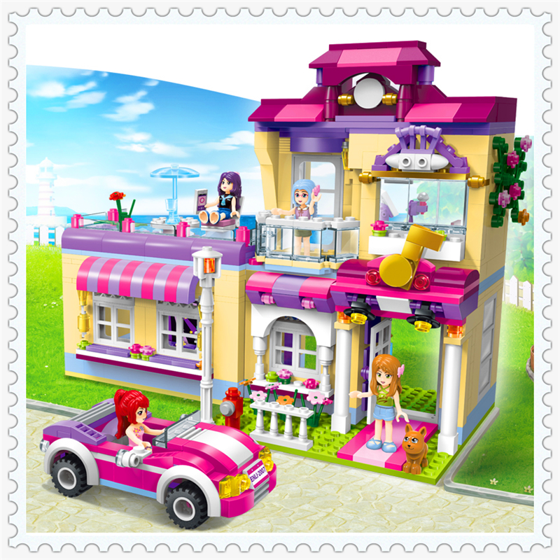 ENLIGHTEN 2007 Cherry Girls Star Training Center Model Building Block 729Pcs Educational  Toys For Children Compatible Legoe 0367 sluban 678pcs city series international airport model building blocks enlighten figure toys for children compatible legoe