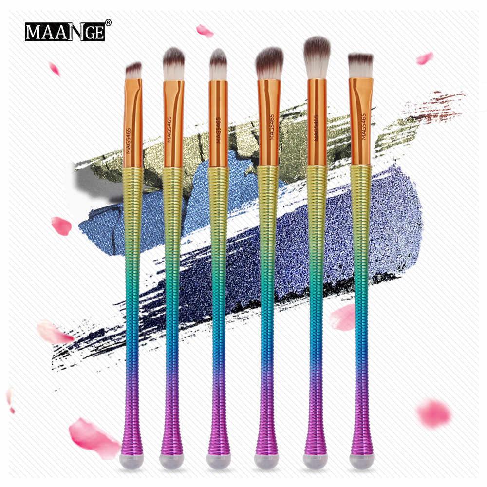 Maange Make Up 6 Pcs Makeup Brushes Foundation Eyeshadow Kontur Mata Bibir Putri Duyung Baru Kuas Make Up Natural 2018 Sep28