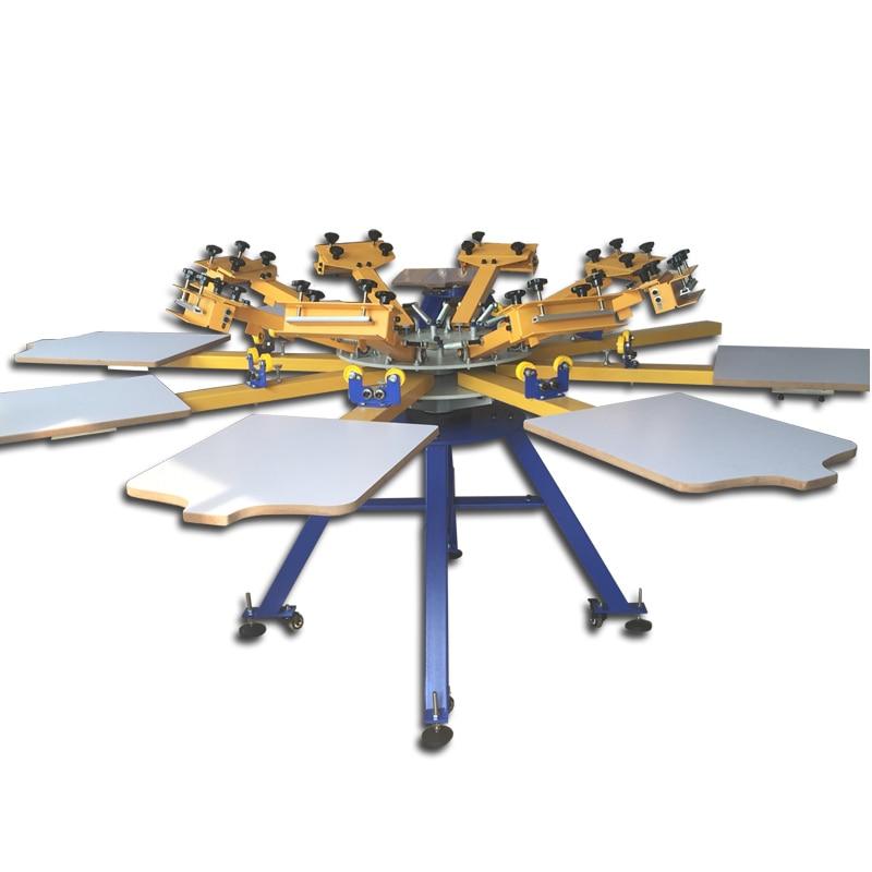 4/6/8 station silkscreen printing manual machine,8 color manual screen printing machine