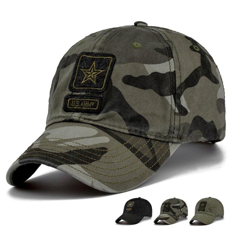 Prix pour Nouveau Hommes Pentagram Cap Top Qualité US Army Caps Hommes de Chasse Chapeau De Pêche En Plein Air Camo Baseball Chapeaux Réglable
