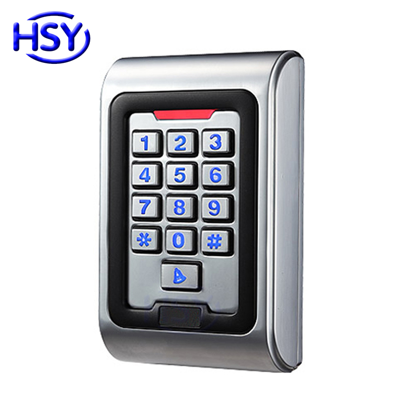HSY IP68 Waterproof Standalone Keypad Control Reader RFID Proximity EM ID Card Keyfob Entry Lock Door