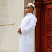 New Eid Costume Clothes for Man Clothing Jubba Thobe Muslim Arabic Abaya Robes Kaftan Thobe Prayer CottonMen Islamic Clothing