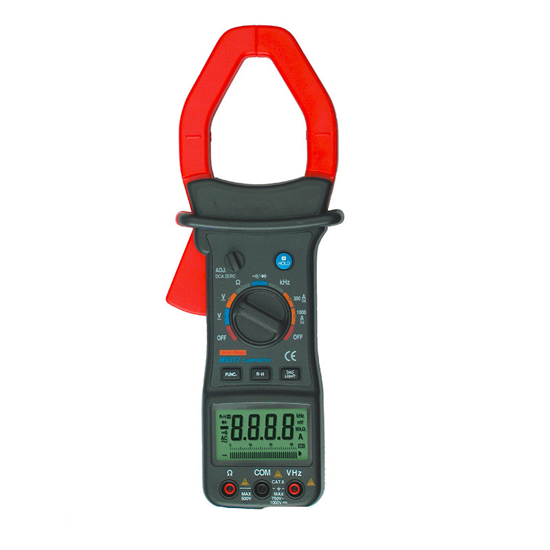 цены New Professional High Quality Digital Clamp Meter Auto Range 3200 Counts M9912 High Accuracy Voltage Current Resistance Tester