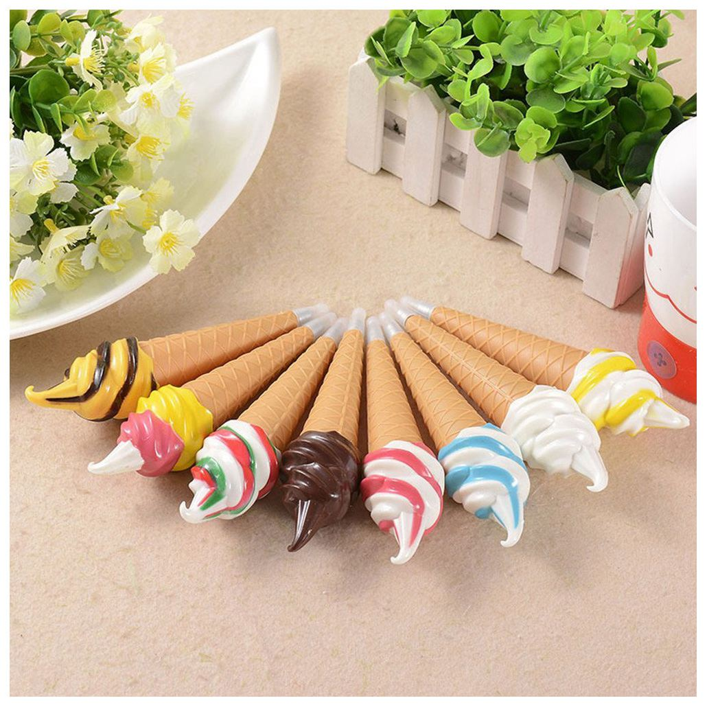 Novelty Pens Ice Cream Ballpoint Pen Magnet Creative Pen Black Ink Gift Pen for Kids Children Student Dress Up Fridge