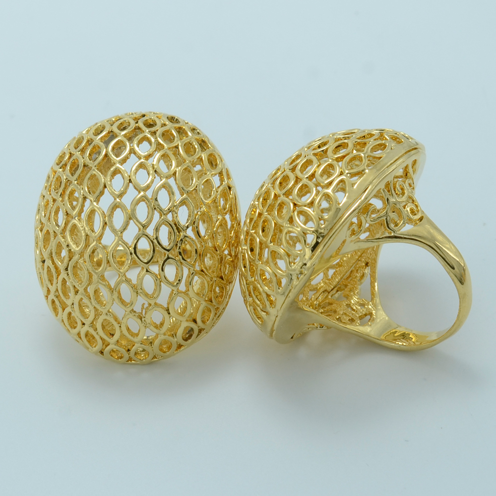 ONE PIECE/Big Ring Ethiopian For Women, Gold Plated