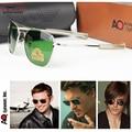 Pilotos de la Fuerza Aérea EE. UU. MILITAR AO Optical Glass Lense Conducción Aviator gafas de Sol para hombre de gafas de Sol de Diseñador de la marca Oculos Masculino
