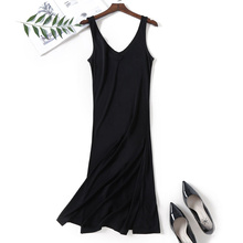 Summer Fashion V-neck New Women Woman Lace Lady Girl Soft Silk Dress Full Slip Night Skirt YH109