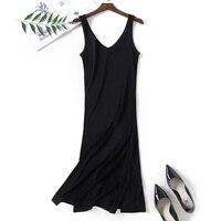 Summer Fashion V neck New Women Woman Lace Lady Girl Soft Silk Dress Full Slip Night Skirt YH109