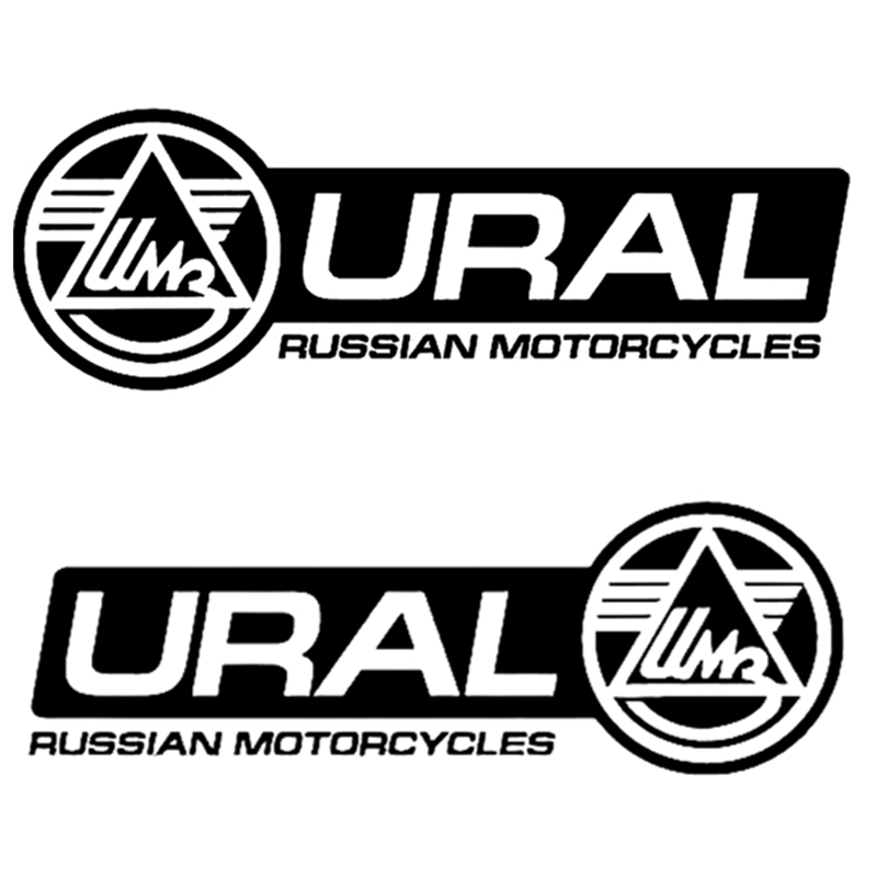 CK2768#8*24cm Motorcycles Ural Funny Car Sticker Vinyl Decal Silver/black Car Auto Stickers For Car Bumper Window Car Decoration