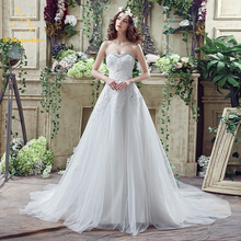 Bealegantom 2017 New Sweetheart Wedding Dresses With Beading Appliques Lace Up Bridal Gowns Robe De Mariage In Stock 2-14 QA832