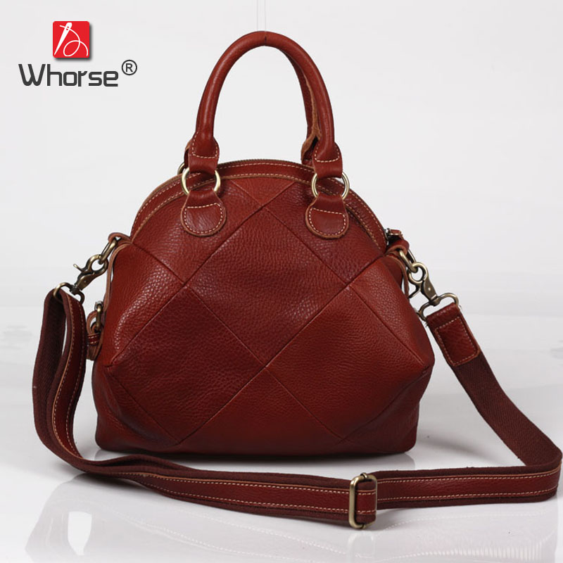 Handmade Plaid Patchwork Vintage Casual Shell Bag Genuine Leather Womens Cowhide Designer Handbag Messenger Bags For Women W0949 top quality handmade vintage casual bag genuine leather womens real cowhide designer handbag messenger bags for women w092544
