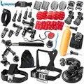 Kit montagem sj4000 gopro acessórios set go pro hero snowhu 5S 5 4 3 + câmera sjcam sj5000 m10 caso xiaoyi peito tripé GS54