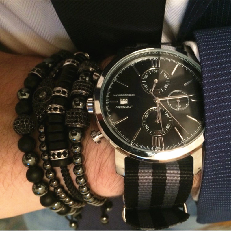 b9fe71396c5 SINOBI Mode Military Chronograph Herrenuhren Nato armband Nylon Armband Top  Luxusmarke Männer Quarzuhr James Bond 007 in SINOBI Mode Military  Chronograph ...