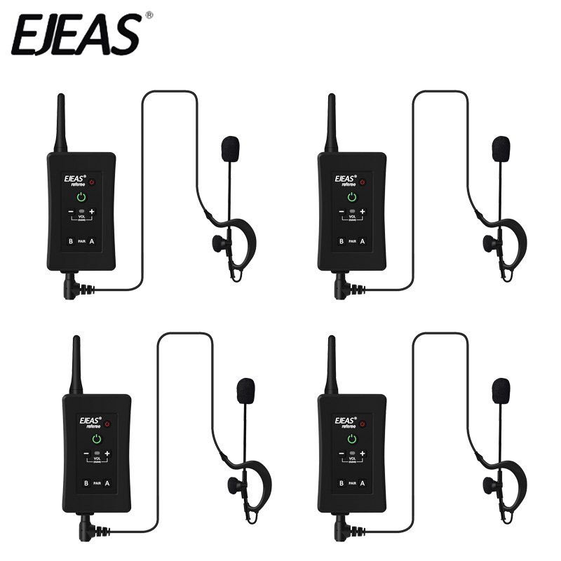 EJEAS Helmet Headset Speaker Moto-Intercom Radio 1200m Wireless 4PCS Bluetooth