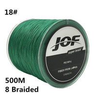 18 500M Brand Line 8 Strands 0 8MM 150LBS 68KG Multifilament 100 PE 8 Braided Super