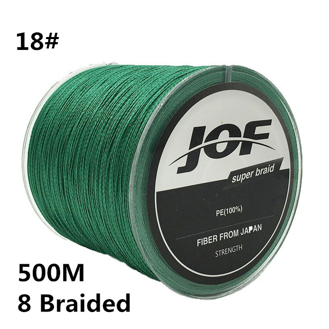 18# 500M Brand Line 8 Strands 0.8MM 150LBS 68KG Multifilament 100% PE 8 Braided Super Strong Fishing Line Fishing wire #C0